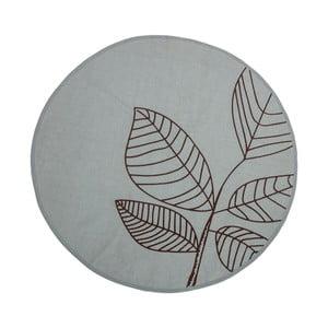 Zelený bavlněný koberec Bloomingville Plant, ⌀120cm