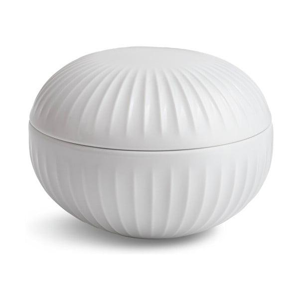 Bílá porcelánová dóza Kähler Design Hammershoi, ⌀ 11,5 cm