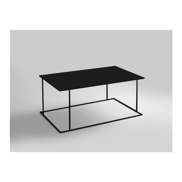 Walt fekete dohányzóasztal, hossza 100 cm - Custom Form