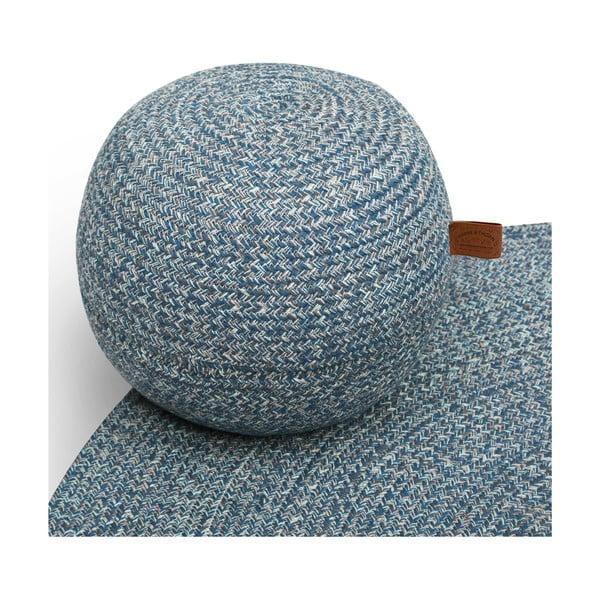 Petrolejově modrý kulatý koberec Hawke&Thorn Parker