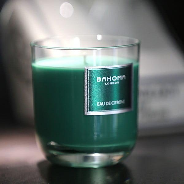 Svíčka s vůní zelených citrusů Bahoma London, 75hodinhoření