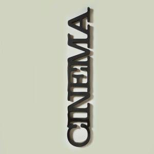 Dekorativní nápis Cinema, černý