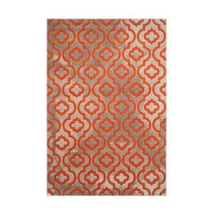 Oranžový koberec Webtappeti Evergreen,92x152cm