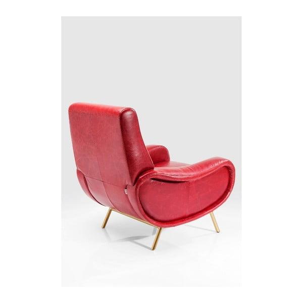 Červené křeslo Kare Design Capitano