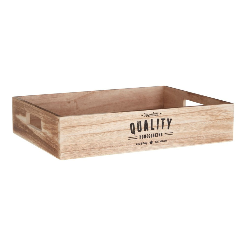 Dřevěný podnos s úchyty Premier Housewares Rustical, 28 x 38 cm