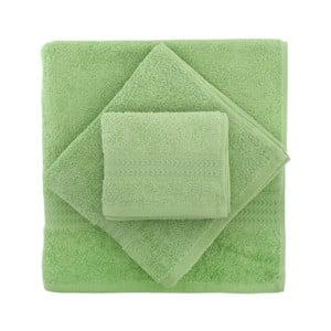 Sada 3 zelených ručníků Rainbow