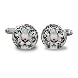 Sada 2 manžetových knoflíčků Butoni de Camasa White Tiger