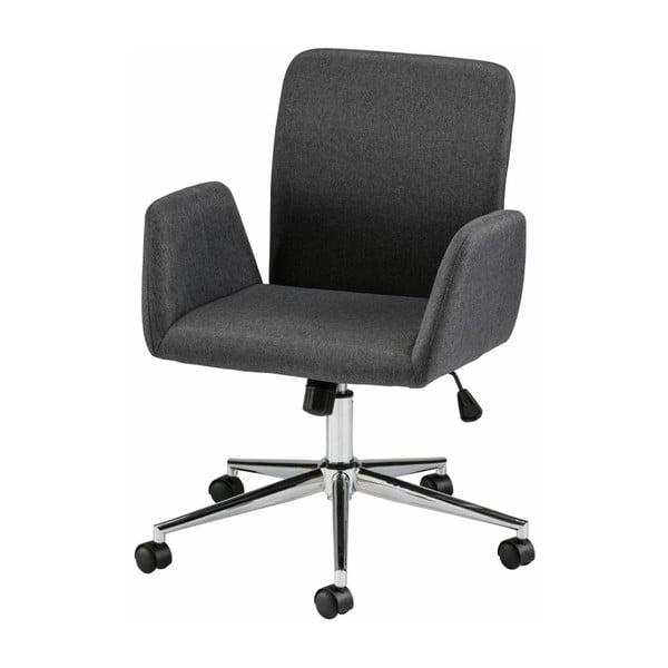 Czarne krzesło biurowe na kółkach z podłokietnikami Støraa Bendy