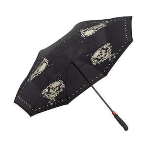 Černý golfový deštník Von Lilienfeld Skull FlicFlac
