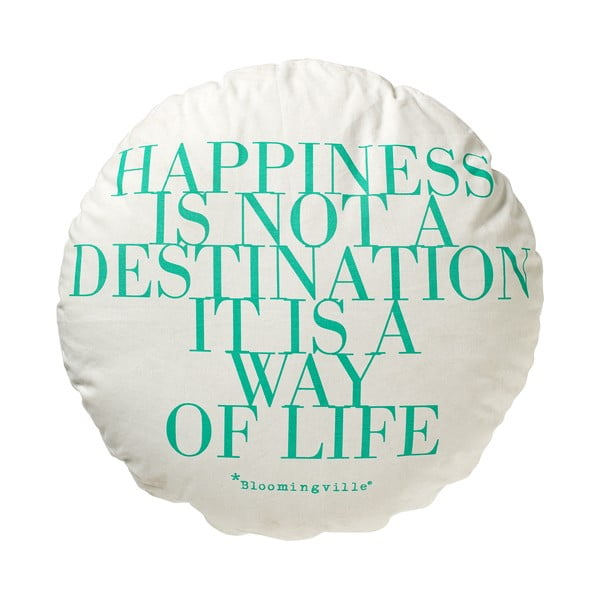 Polštář Happines is not destination, 70x70 cm