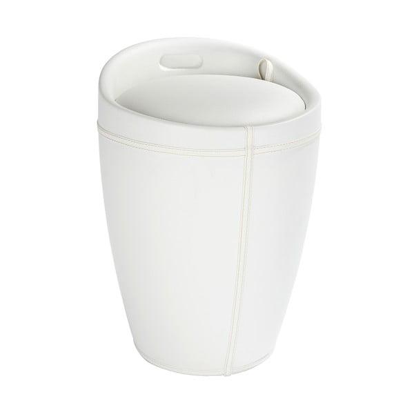 Coș de rufe taburet Wenko Candy Look, alb, 20 l