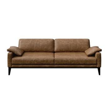 Canapea din piele cu 3 locuri MESONICA Musso maro