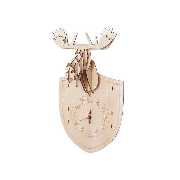 Dřevěné hodiny na složení Moose