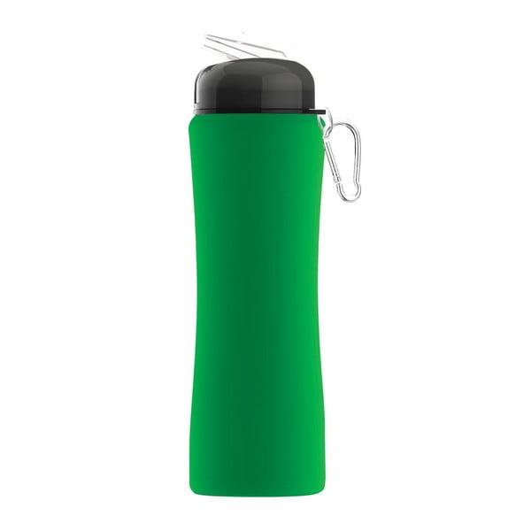 Revoluční sportovní lahev Sili-Squeeze, zelená, 650 ml