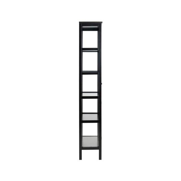 Vitrină Actona Eton, înălțime210cm, negru