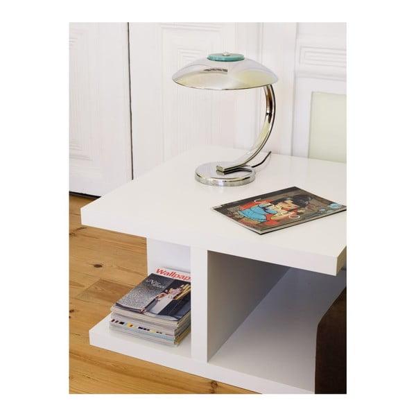 Bílý konferenční stolek TemaHome Crest