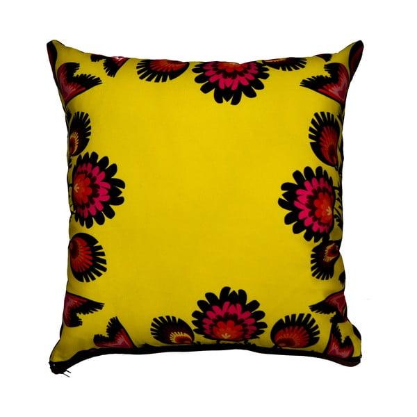 Polštář s náplní Flowers Yellow, 40x40 cm