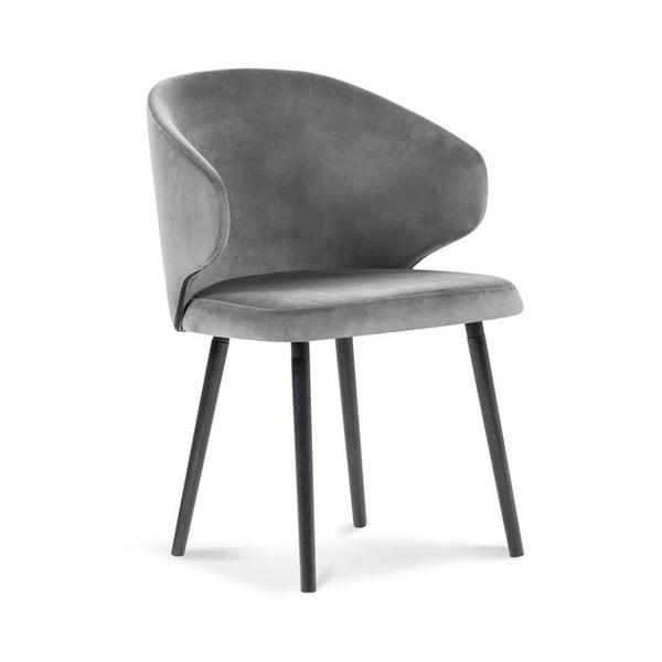 Šedá jídelní židle se sametovým potahem Windsor & Co Sofas Nemesis