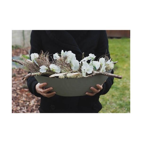 Květinová dekorace od Aranžérie, bílé květy hrachoru