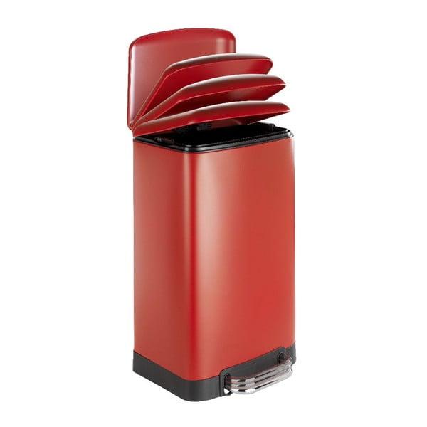 Červený odpadkový koš Wenko, 30l
