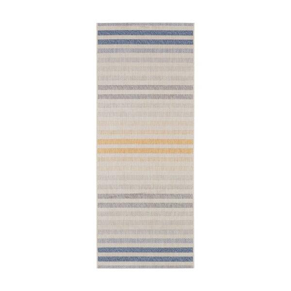 Covor potrivit pentru exterior Bougari Paros, 80 x 200 cm, albastru - portocaliu