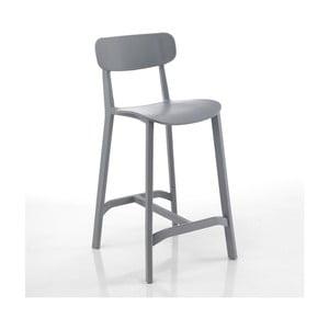 Set 2 scaune bar adecvate pentru exterior Tomasucci Mara, gri