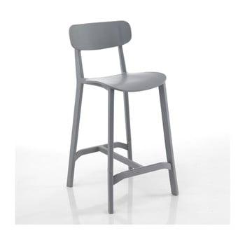 Set 2 scaune bar adecvate pentru exterior Tomasucci Mara, gri de la Tomasucci