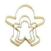 Set 3 forme pentru decupat prăjituri de Crăciun Bloomingville Cookie Cutter, auriu