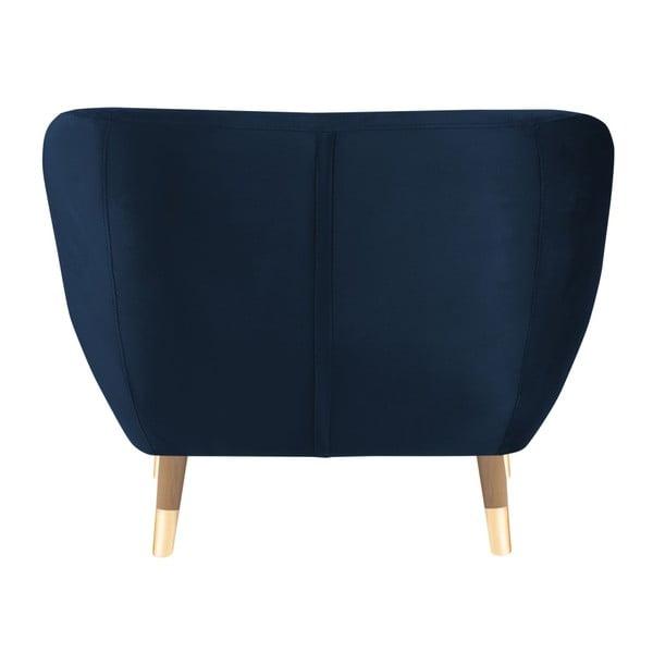 Tmavě modré křeslo Mazzini Sofas Amelie