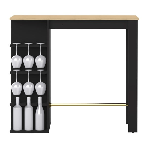 Černý barový stůl TemaHome Viso