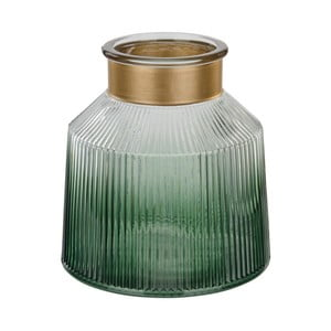 Zelená skleněná váza Native Verde, ⌀19 cm