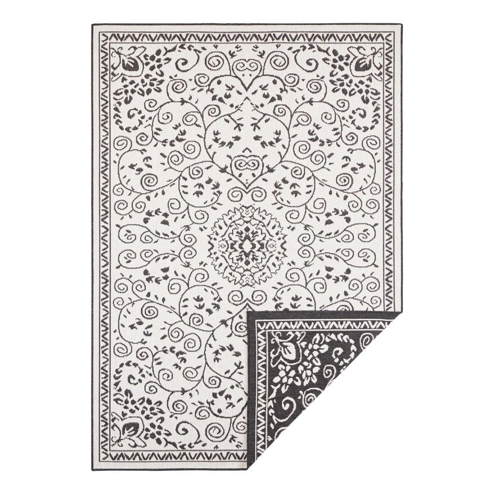 Černo-krémový venkovní koberec Bougari Leyte, 120 x 170 cm