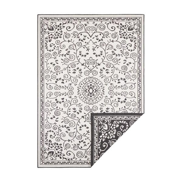 Černo-krémový venkovní koberec Bougari Leyte, 80 x 150 cm