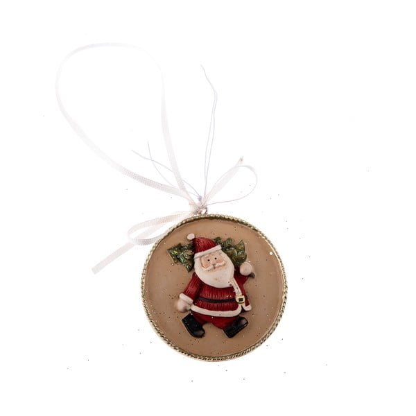 Santa Claus függődísz, 5,5 x 5,5 cm - Dakls