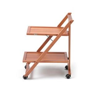 Pojízdný servírovací stolek z bukového dřeva Arredamenti Italia Simpaty
