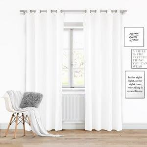Bílý závěs Slowdeco Vivat, 140 x 250 cm