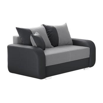 Canapea cu 2 locuri INTERIEUR DE FAMILLE PARIS Destin gri antracit