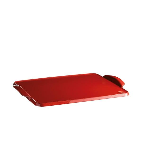 Červený keramický pečící tác Emile Henry, 41,5 x 31,5 cm