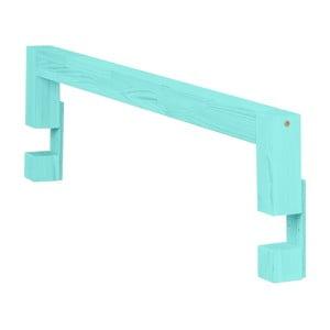 Panou lateral din lemn de molid pentru patul Benlemi Safety,lungime90cm, turcoaz