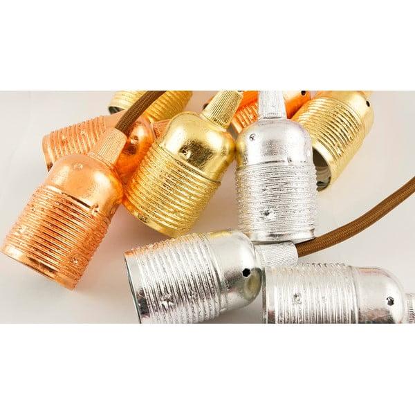 Dva závěsné kabely Uno, zlatá/bílá
