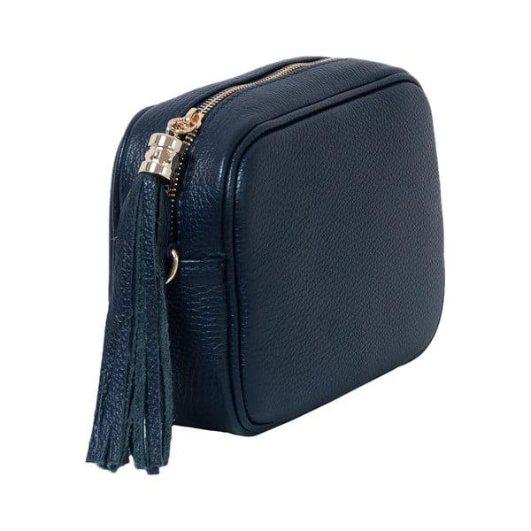 Tmavě modrá kabelka z pravé kůže Andrea Cardone Pezzo