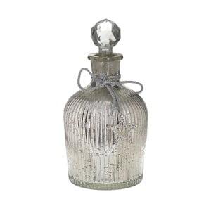 Skleněná dekorativní láhev se zátkou InArt, ⌀10cm