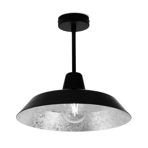Černo-stříbrné stropní svítidlo Bulb Attack Cinco