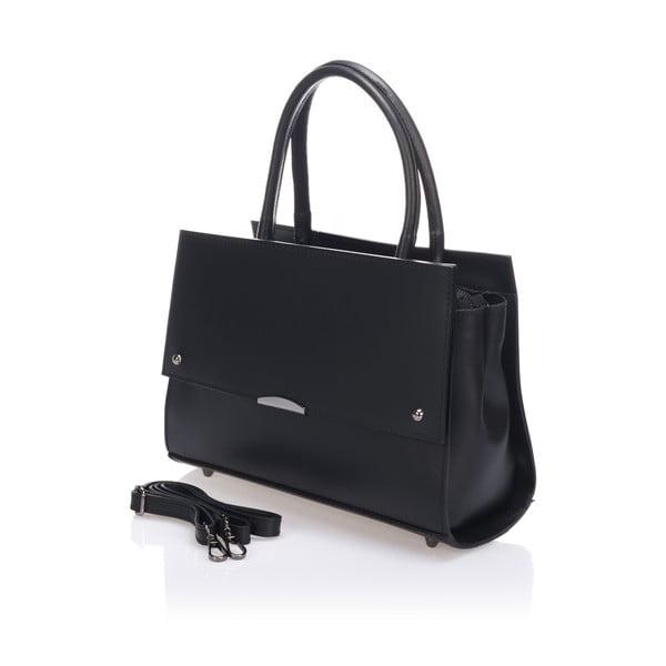 Černá kožená kabelka Lisa Minardi Francesca