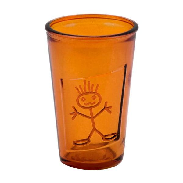 Oranžová sklenice z recyklovaného skla Ego Dekor Zeus, 300ml