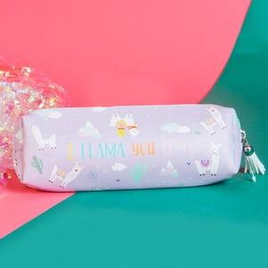 Penál na tužky Just 4 Kids Llama Lilac Pencil Case