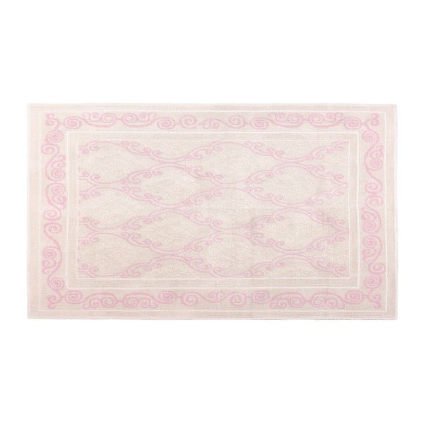 Krémový bavlněný koberec Floorist Snow Powder, 60x90cm