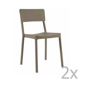 Sada 2 čokoládově hnědých zahradních židlí Resol Lisboa