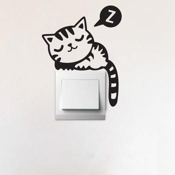 Autocolant decorativ de perete Cat înălțime 17 cm