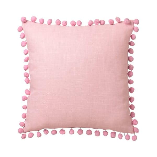 Růžový polštář Unimasa Pompon, 45 x 45 cm
